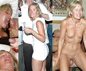 Hottest blonde mature dressed and undressed